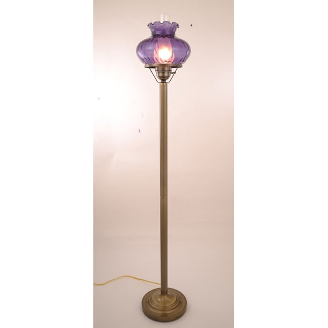 Hurricane With Rhombus Purple Glass Floor Lamp