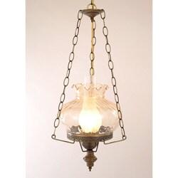Hurricane Swag Rhombus Amber Glass Ceiling Lamp