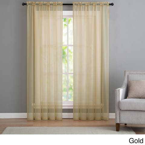 VCNY Infinity Sheer Rod Pocket Curtain Panel