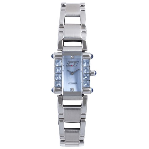 Chronotech Women's Light Blue Dial Stainless Steel Crystal Quartz Watch