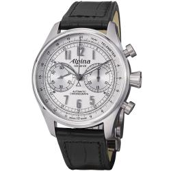 Alpina Men's AL-860SCP4S6 'Aviation' Silver Dial Chronograph Automatic Watch