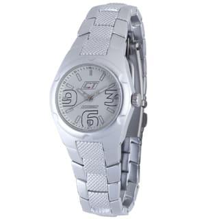 Chronotech Women's Aluminum White Dial Quartz Watch|https://ak1.ostkcdn.com/images/products/6805928/6805928/Chronotech-Womens-Aluminum-White-Dial-Quartz-Watch-P14339950.jpg?impolicy=medium