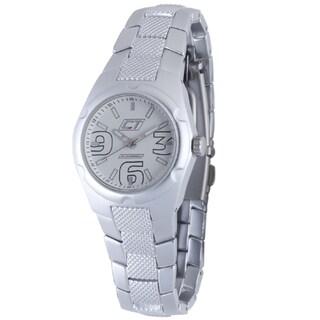 Chronotech Women's Aluminum White Dial Quartz Watch