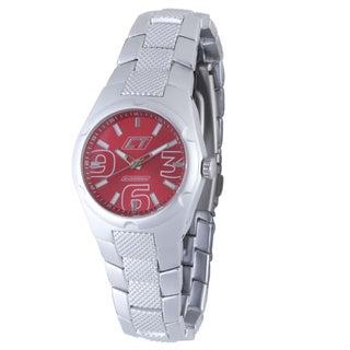 Chronotech Women's Aluminum Red Dial Quartz Watch