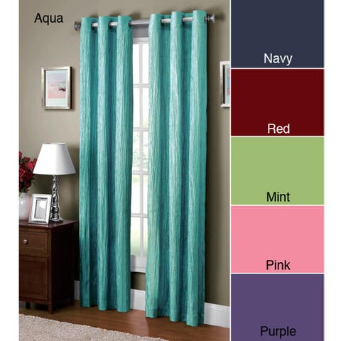 VCNY Jericho Crushed Grommet Top 84-inch Curtain Panel - 50 x 84
