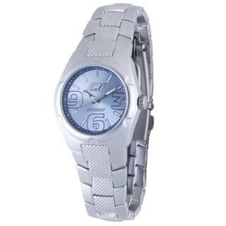 Chronotech Women's Aluminum Light Blue Dial Quartz Watch