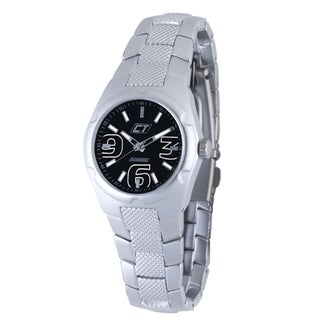 Chronotech Women's Aluminum Black Dial Quartz Watch
