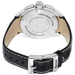 Alpina Men's AL-353BS4RC6 'Club' Grey Dial Black Leather Strap Chronograph Watch - Thumbnail 1