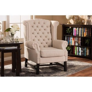 Sussex Beige Linen Club Chair
