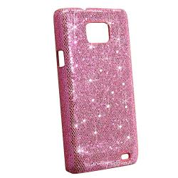 Hot Pink Bling Case/ Screen Protectors for Samsung Galaxy S II i9100 - Thumbnail 1