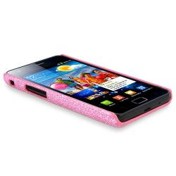 Hot Pink Bling Case/ Screen Protectors for Samsung Galaxy S II i9100 - Thumbnail 2