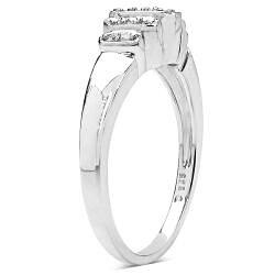 Malaika 14k Gold over Silver 1/10ct TDW Diamond Ring (I-J, I2-I3)