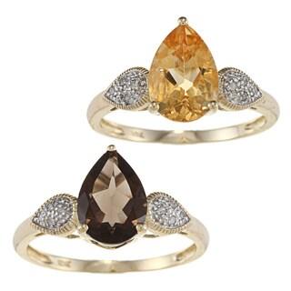 Viducci 10k Gold Gemstone and Diamond Ring