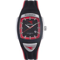 Diadora Men's Black/ Red Rubber Date Watch
