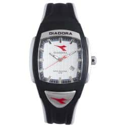 Diadora Men s Black  Gray Rubber Date Watch 1772b6c6b1