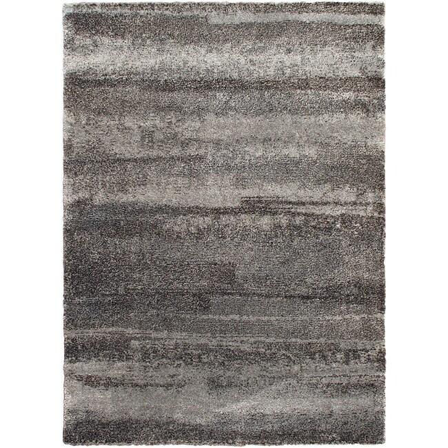 Heaven Nimbus Stone Shag Rug (7'7 x 10'9)