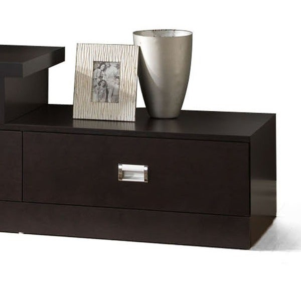 dark brown wood tv stand by baxton studio free shipping today