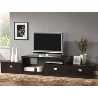 Contemporary Dark Brown Wood TV Stand by Baxton Studio Stands Living Room Furniture For Less  Overstock com