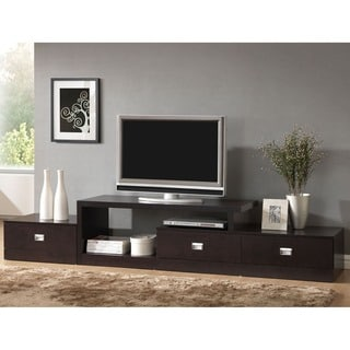 Contemporary Dark Brown Wood TV Stand By Baxton Studio Part 37