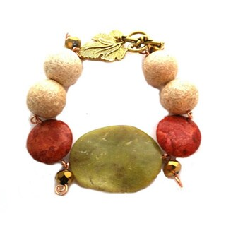 Wavy Jade Gemstone Bracelet