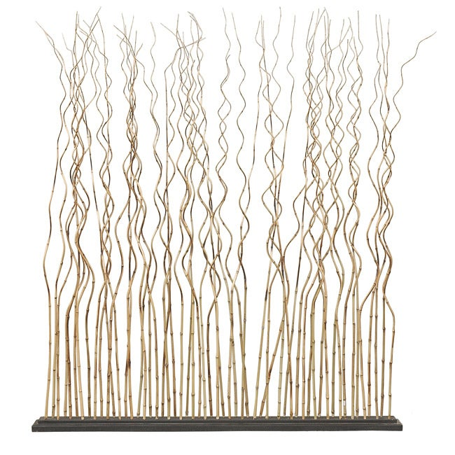Decorative Tan Contemporary Bamboo Divider