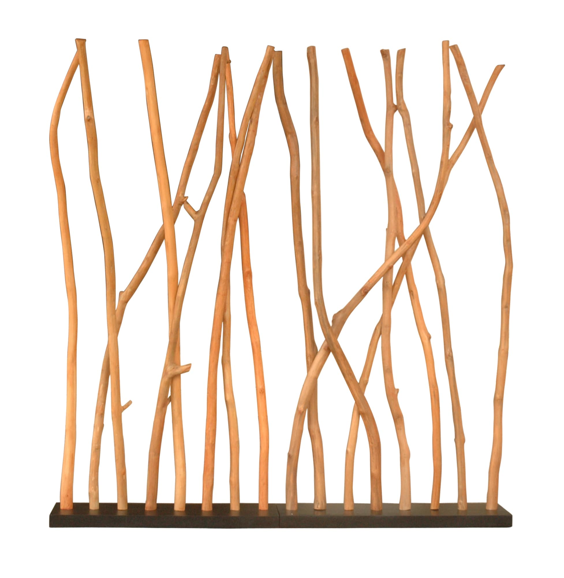 Decorative Tan Contemporary Teak Wood Divider