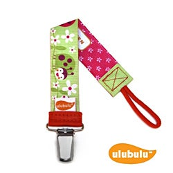 Ulubulu Personalized Pacifier Clip in Lady Bug