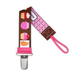 Personalized Pacifier Clip in OMG Cupcakes