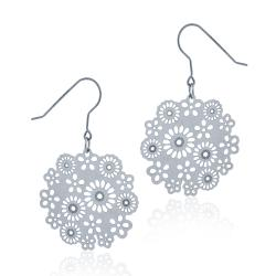 Mondevio Stainless Steel Cut-out Design Flower Earrings