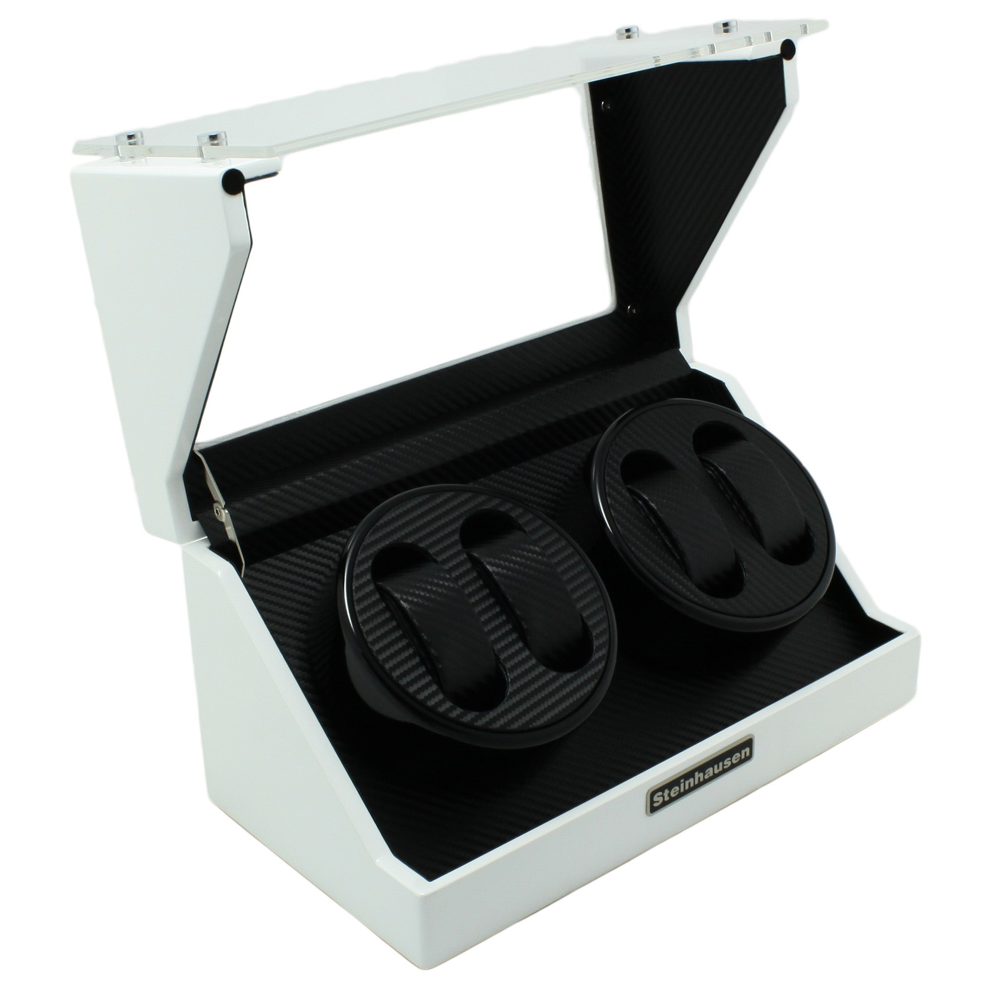 Versil Steinhausen 4-mode White Lacquer Coated Wood Quad Watch Winder