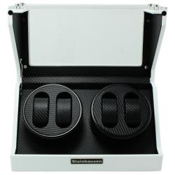 Versil Steinhausen 4-mode White Lacquer Coated Wood Quad Watch Winder - Thumbnail 2