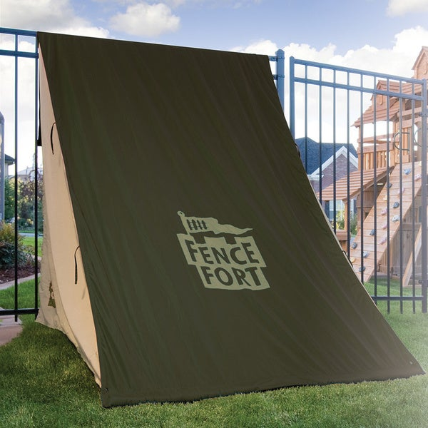 Fence Fort Kids' Indoor/Outdoor Easy-to-assemble Nylon Play Tent