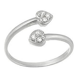 Icz Stonez Sterling Silver Cubic Zirconia Crossover Heart Toe Ring https://ak1.ostkcdn.com/images/products/6807830/P14341490.jpg?impolicy=medium