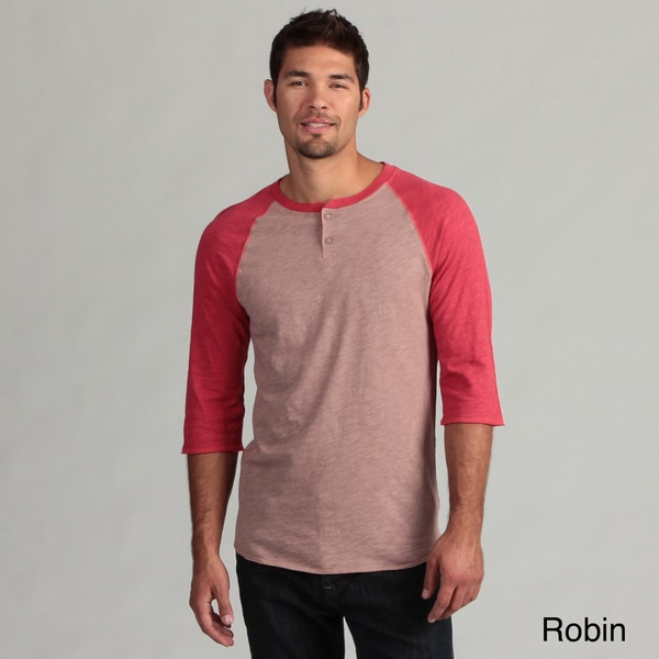 Nuco Men's 3/4 Raglan Sleeve Henley Shirt