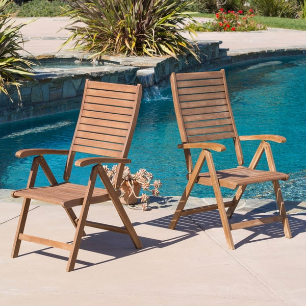Christopher Knight Home Americana Hard Wood Outdoor Chairs (Set of 2)