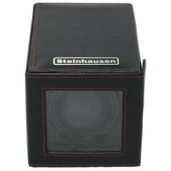 Steinhausen 12-mode Single Black Polyurethane Leather Watch Winder - Thumbnail 1
