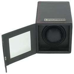 Steinhausen 12-mode Single Black Polyurethane Leather Watch Winder - Thumbnail 2