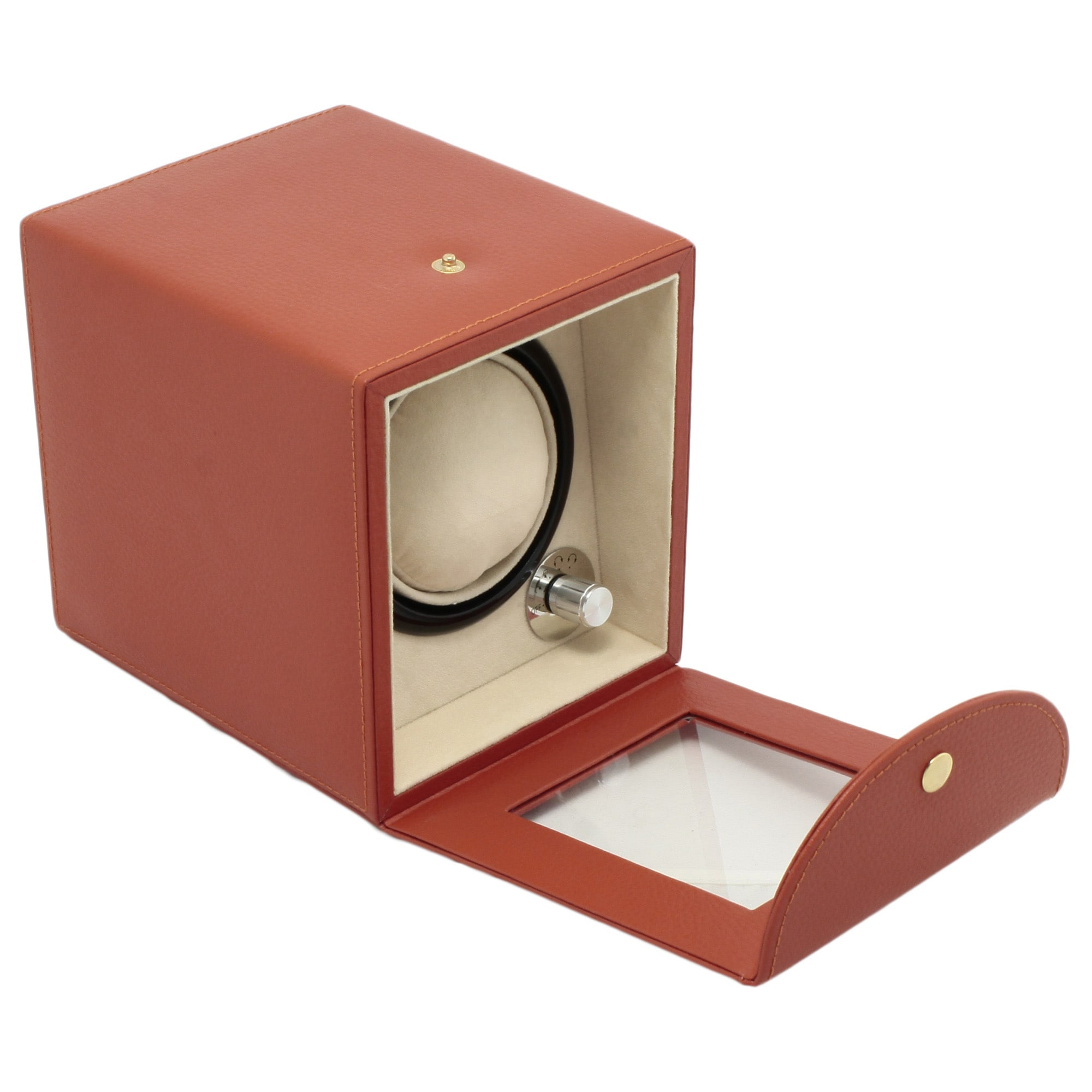 Steinhausen 4-mode Single Orange Polyurethane Leather Watch Winder