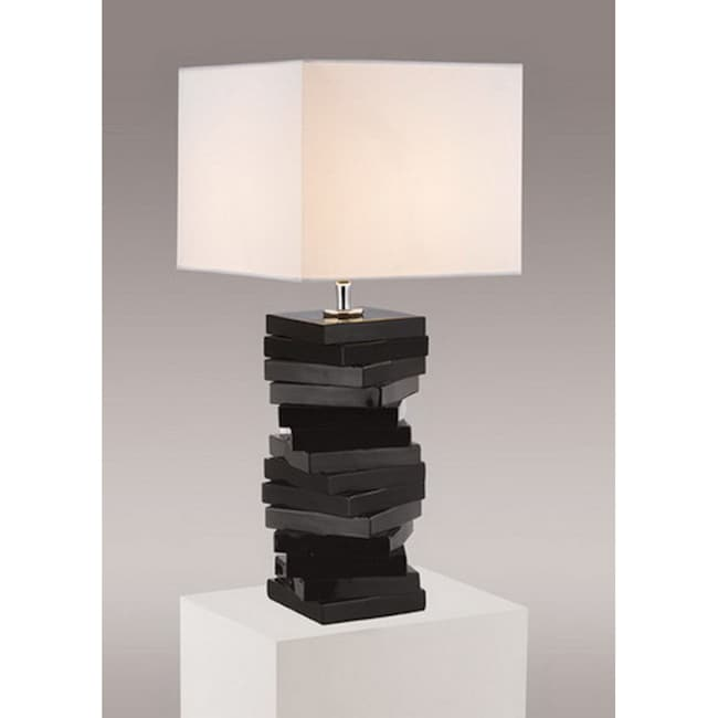 Gallery Contemporary Modern Black Table Lamp Free