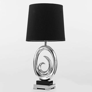 Gallery Contemporary Modern Black Oval Table Lamp