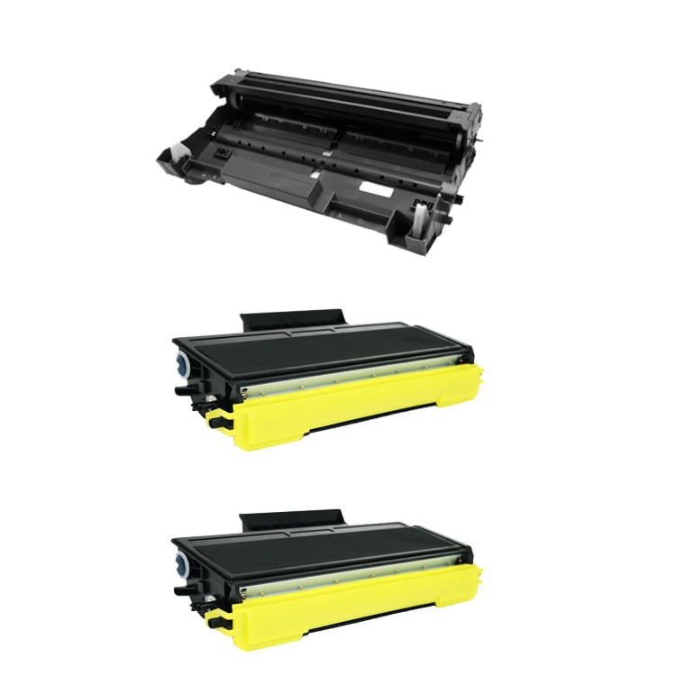 Brother TN650 Compatible Black Toner Cartridges / DR620 Compatible Drum Unit (Pack of 3)