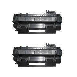 Hewlett Packard CE505X Compatible Black Toner Cartridges (Pack of 2)