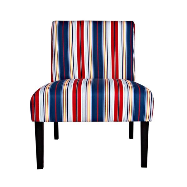 Portfolio Niles Nautical Stripe Armless Chair Free