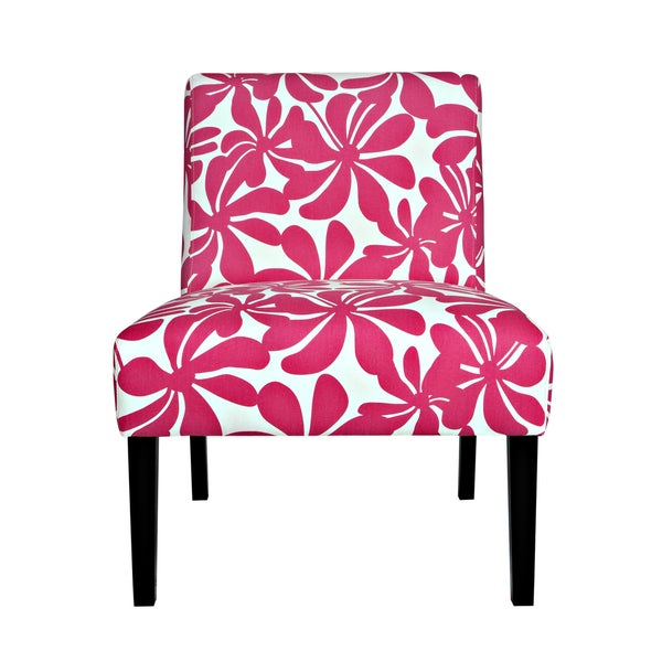 Delightful Portfolio Niles Pink Floral Armless Chair