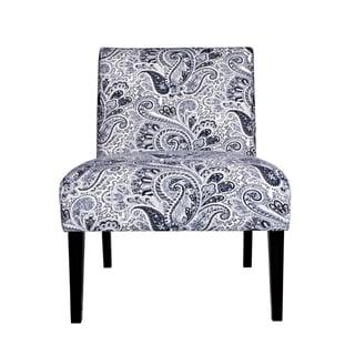Portfolio Niles Navy Blue Paisley Armless Chair