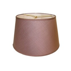 Brown Round Hardback Lamp Shade - Thumbnail 0
