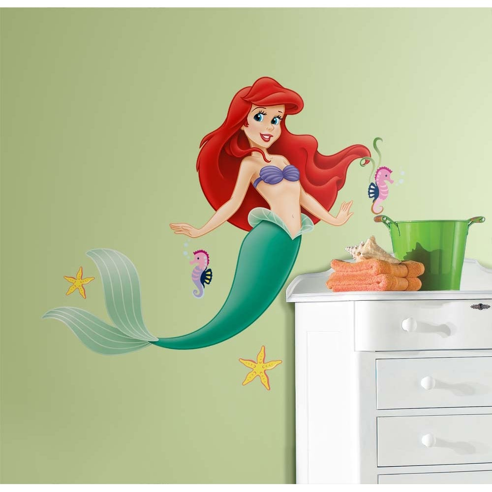Shop RoomMates Disney Princess Little Mermaid Giant Peel and Stick ...