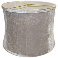 Round Ribbed Drum Grey Velvet Shade