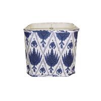Blue/ White Linen Square Lamp Shade
