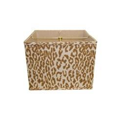 Cheeta Print Linen Square Lamp Shade